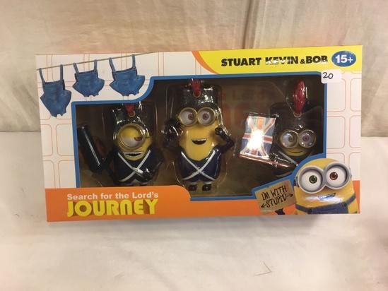 "NIB Collector Minion Search For the Lord's Journey Stuart Kevin & Bob 12.5x6.5"" Box Size"