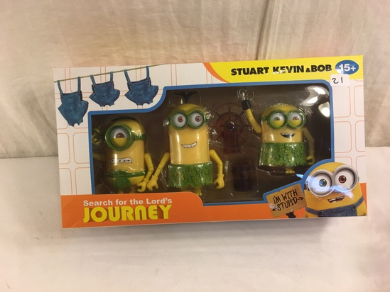 NIB Collector Minion Saerch for the Lord's Journey Stuart Kevin & Bob Action Figures 12.5x6.5' Box