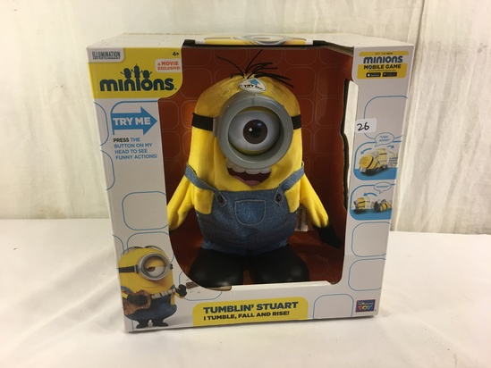 "NIB Collector Illumination Entertainment Minion Tumblin' Stuart Movie Exclusive Figure 11x10.5"" Box"