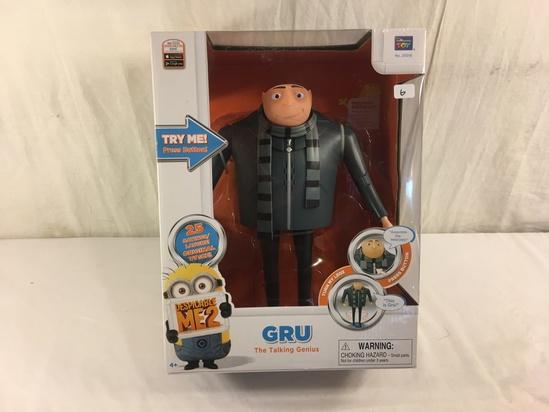 "NIB Collector Despicable Me 2 No.20016 GRU The Talking Genius Figure 13x10"" Tall Box"
