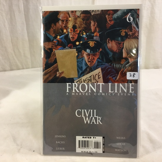 Collector Marvel Comic Book Front Line Civil War #6 Marvel Comics Event Comic Book