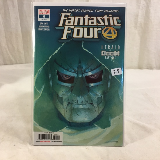 Collector Marvel Comic Book Fantastic Four #6 LGY#651 Herald Of Doom Part One Comic Book