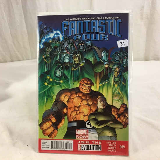 Collector Marvel Comic Book Fantastic Four #9 Marvel Now Edition Comic Book