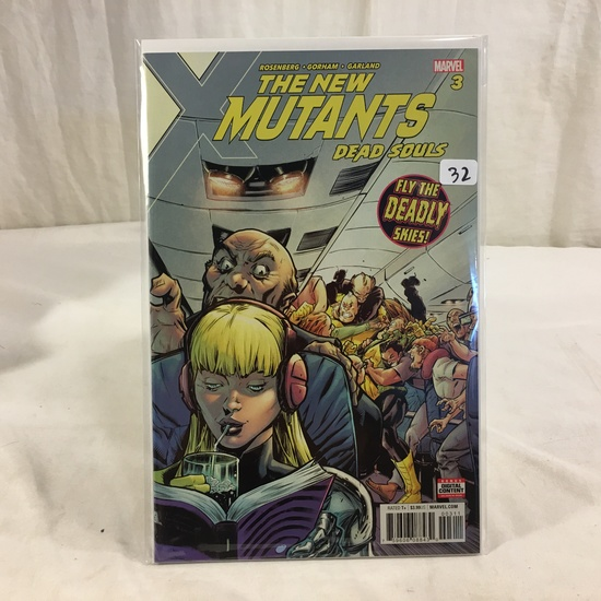 Collector Marvel Comic Book The New Mutants Dead Souls Fly The Deadly Skies #3 Comic Book
