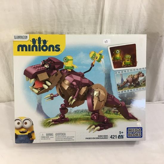 "NIB Collector Illumination Ent. Minions Mega Boks Dino Ride 421 Pcs. Box Size: 11.5x14"""