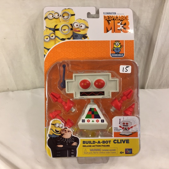 """NIB Illumination Ent. Minions Deluxe Action Figure Build-A-Bot Clive 6-7""""Tall"""