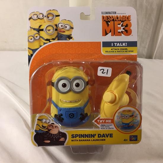 "NIB Collector Illumination Minions Despicable Me 3 Spinnin' Dave W/Banana Launcher 4.8""T Box"