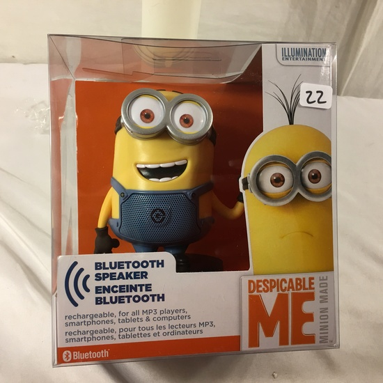 "NIB Collector Illumination Minions Despicable Me Bluetooth Speaker 7""tall Box"