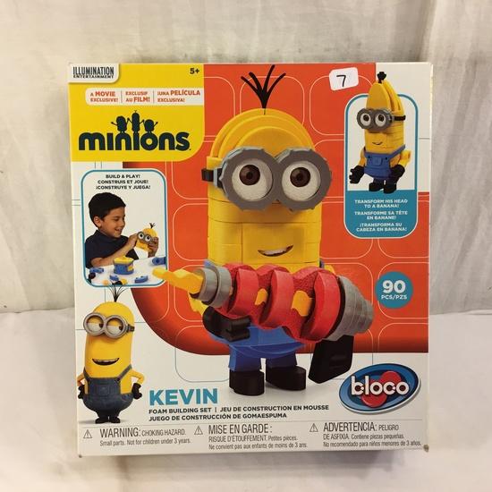 "NIB Collector Illumination Minions Bloco Kevin Foam Building Set 100 Pcs. Box Size: 10x11"""