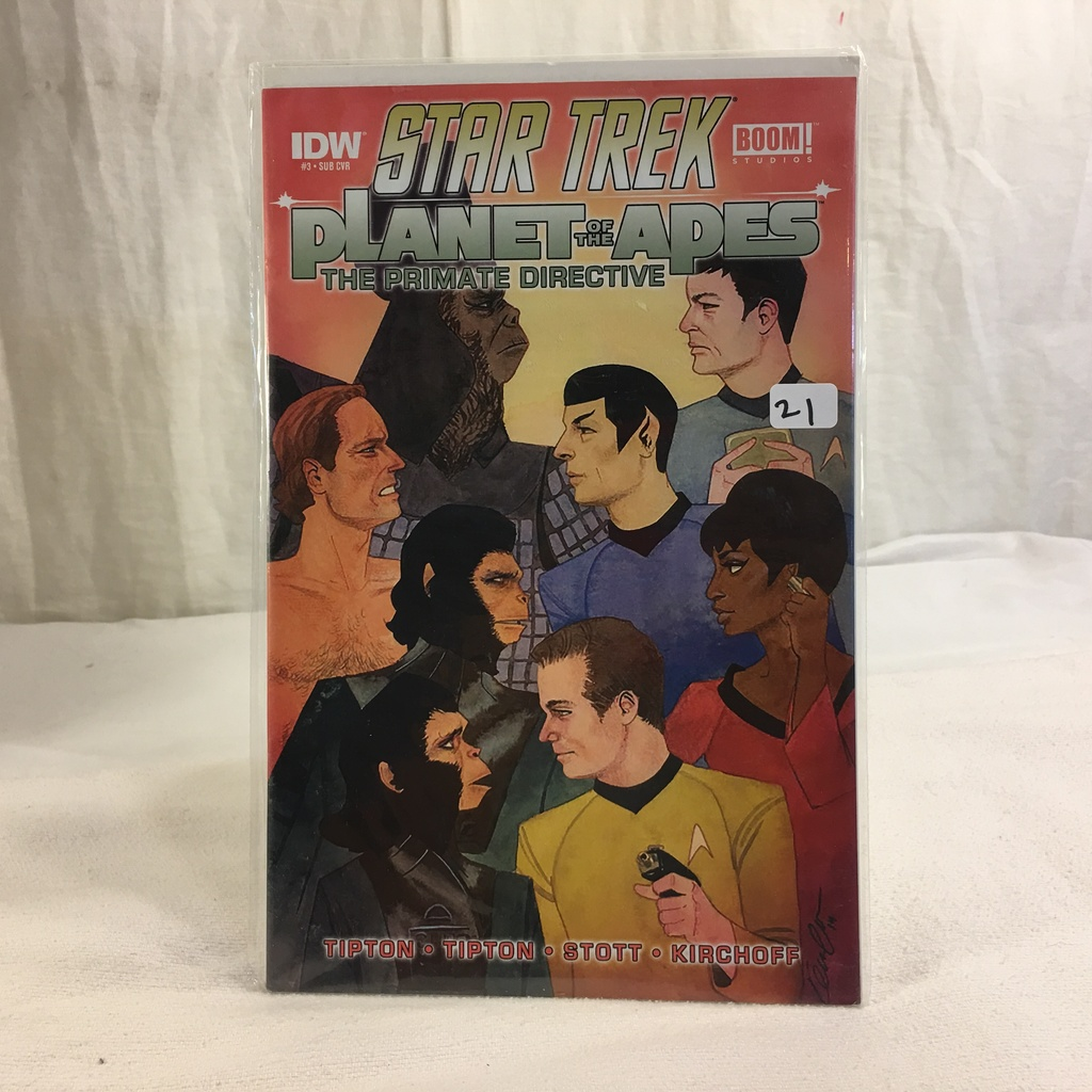 Collector IDW Comics Star Trek Boom Studios Planet Of The Apes The Primate Directive #3 Comic