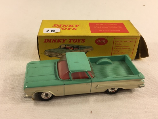 Collector Vintage Dinky Toys No.449 Chevrolet .El Camino Pick-Up Truck Made in England W/Box