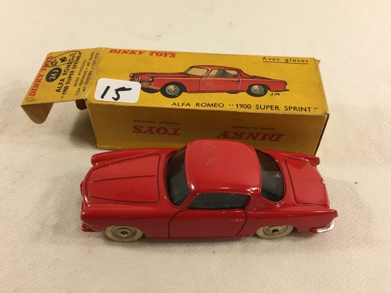 Collector Vintage Dinky Toys No.24J Alfa Romeo 1900 Super Sprint  Avec Glaces Made in England W/Box