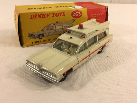 Collector Vintage Dinky Toys 263 Superior Criterion Ambulance Prov Pat Nos.1025/59 - 12500/60 Car