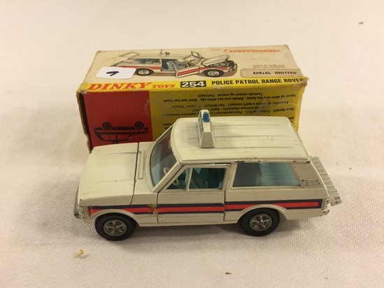 Collector Vintage Dinky Toys No.254 Police Patrik Range Rover Scale Model Made in England W/Box