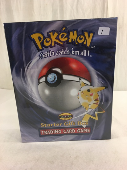 Collector New Sealed in Plastic Pokemon Starter Level Gift Box Trading Card Game