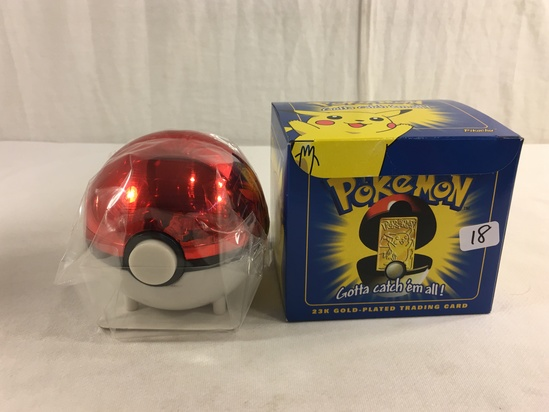 """Collector 1998 Nintendo Limited Edition Pokemon 23k -Gold Plated Trading Card """"Pikachu"""""""