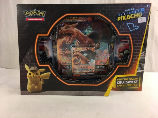 "Collector New Pokemon Trading card Game Detective Pikachu Box Size:13x9.5"" Box"