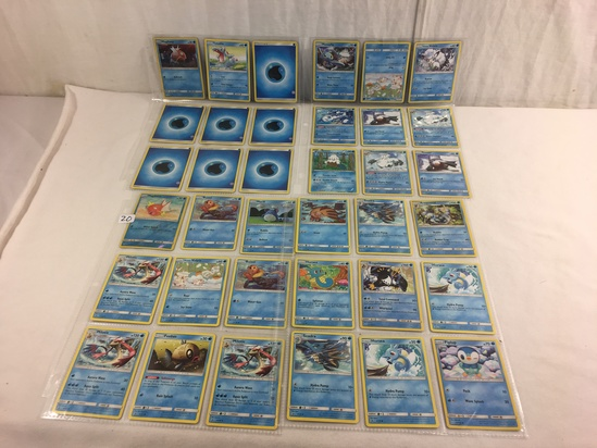 Collector Loose Pokemon Card 4- Sheets of 36 Cards - See Pictures