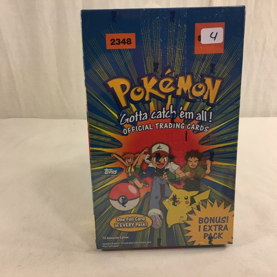 Collector New Sealed in Plastic Pokemon Topps TV Animation Edition Official Trading Card