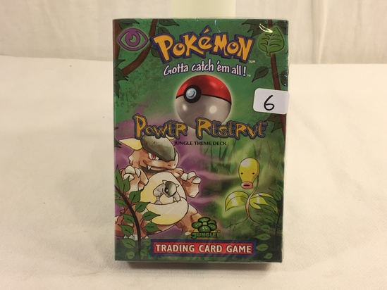 Collector Sealed in Plastic Pokemon The Advanced Level Power Reserve Jungle Theme Deck