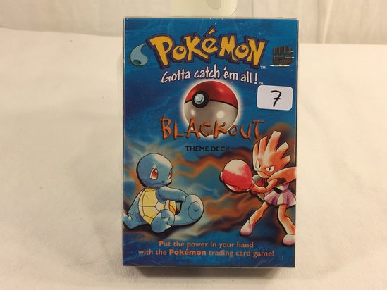 Collector Sealed in Plastic Pokemon The Advanced Level Blackout Theme Deck Trading card