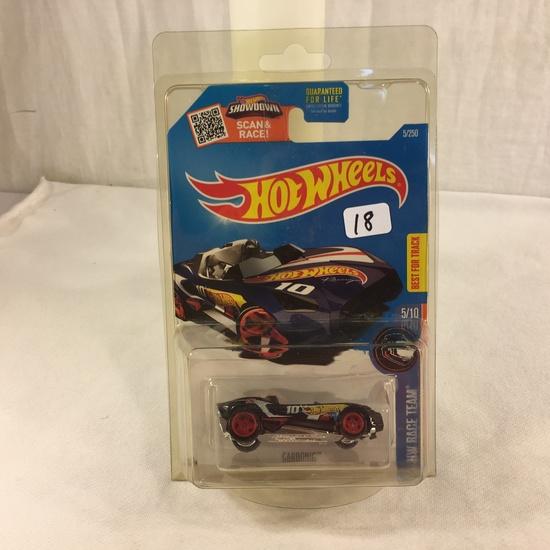 Collector NIP Hot wheels Mattel 1/64 Scale DieCast & Plastic Parts 'Carbonic Race Team 5/10 Car