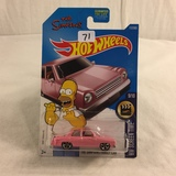 Collector NIP Hot wheels Mattel 1/64 Scale DieCast & Plastic Parts The Simpsons Family Car 9/10