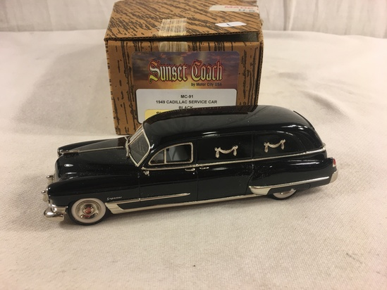 Collector Sunset By Motor City USA MC-91 1949 Cadillac Service Car Black 1/43 Scale DieCast Fineral