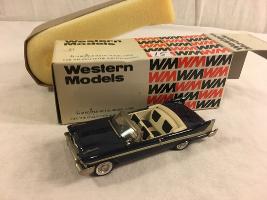 Collector Western Models WMS 51X 1958 Plymouth Belveder Open Made in England  1/43 Scale