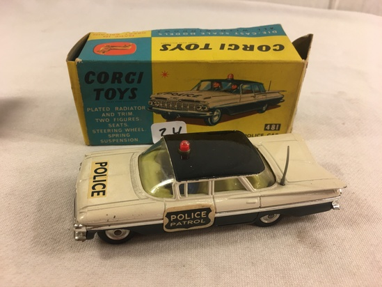 Collector Vintage Corgi Toys Chevrolet Police Car No.481 Die-Cast Scale Models Made in GT. Britain C