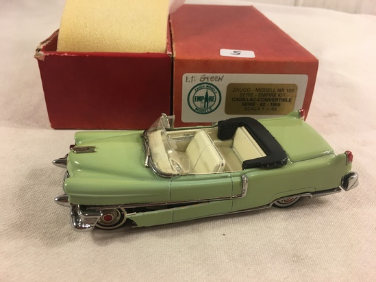 Collector Zauggs Models Empire NR 101 Empire Kit Cadillac-Convertible Series 62-1955 Scale 1/43 Gree
