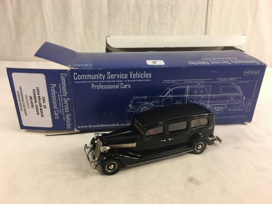 Community Service Vehicles Professional Cars CSV. 18 1934 Miller-Buick Funeral Coach Black 1:43 Scal
