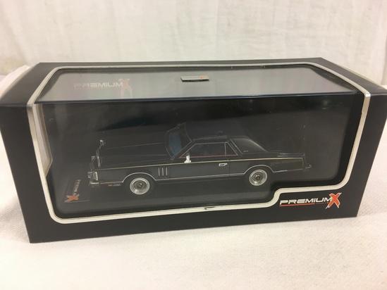 Collector NIB Premium X Models Lincoln Continental MK V Midnight Blue Moondust Metallic 1979 Edt.