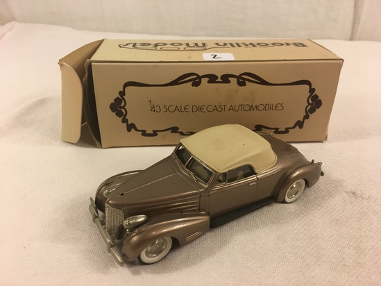 Collector The Brooklin Models Collection No.14 1940 Cadillac V 16 Convertible 1/43 Scale DieCast  Ca