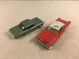 Lot of 2 Pieces Collector Loose Die-cast Metal cars Good For Parts Only Or Missing Parts