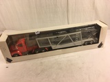 Collector NIB Red/Black/Silver Car Truck Transporter 1/43 Scale Die-cast Metal and Plastic Parts 19