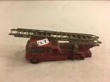 Collector Loose Vintage Red Fire Truck No.15 Kent Fire Brigade Matchbox Series