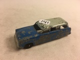 Collector Loose Vintage Tootsietoy Ford Ranch Wagon Blue Color 4.1/4