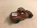 Collector Loose Vintage Tootsietoy Red Truck  Chicago 24 USA Size: 4.3/8