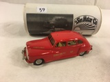 Collector The Sun Motor Co. De Soto Red Fire Department 45 Die-Cast Metal Ambulance Car