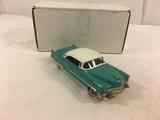 Collector USA Models USA-7 1955 Cadillac Coupe De Ville Wegewood Green & White Sinclair's Mini-Auto