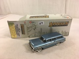 The Brooklin Collection BRK. 154 1958 Chevrolet Yeoman 4-Door Station Wagon Silver Blue Poly 1/43