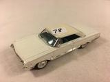 Collector Loose Die-cast Metal and Plastic Parts Road Signature 1964 Mercury Marauder White 1/43 Sca
