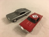 Lot of 2 Pieces Collector Loose Plastic Cars Red and Gray Color See Pictures