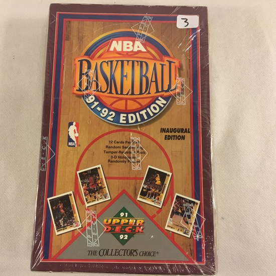 New Sealed in Box - NBA Basketball 1992 Edition Upper Deck The Collector's Choice Sport Trading Card