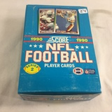 Box has Been Open- But, each Package Still Sealed - 1990 Score NFl Football Series 2 Trading Player