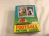 Box has Been Open- But, each Package Still Sealed -1991 Bowman Football Picture Sport Trading Cards
