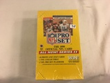New Sealed in Box - 1990 NFL Pro Set The Official NFl Card Series II Sport Trading Cards
