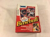 Box has Been Open- But, each Package Still Sealed -1990 Donruss Baseball Puzzle and Cards