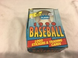 Box has Been Open- But, each Package Still Sealed -1990 Fleer Baseball Logo Stickers & Trading Cards